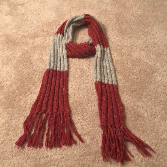 Aeropostale Accessories - Aeropostale red and gray scarf